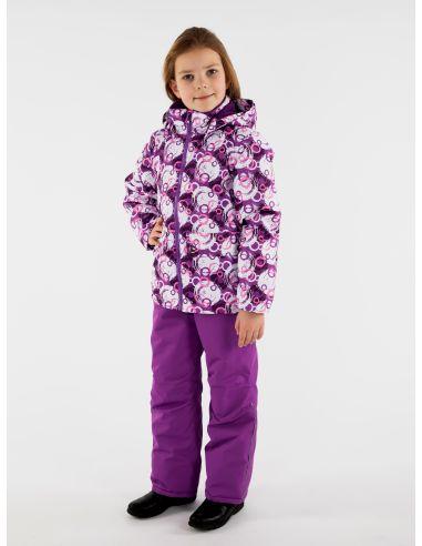 """Куртка """"Парка"""" фиолетовые круги"""