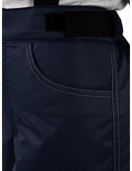 """Темно-синие брюки """"Джинн""""  - карман"""