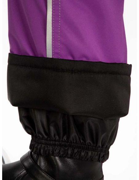 """Лиловые брюки """"Джинн"""" - защитный манжет  от влаги, снега и грязи"""
