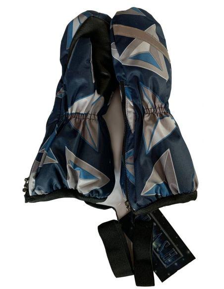 темно-синие треугольники мембрана Варежки-краги на молнии