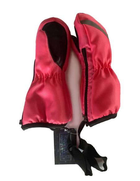 розовый оксфорд Варежки-краги на молнии